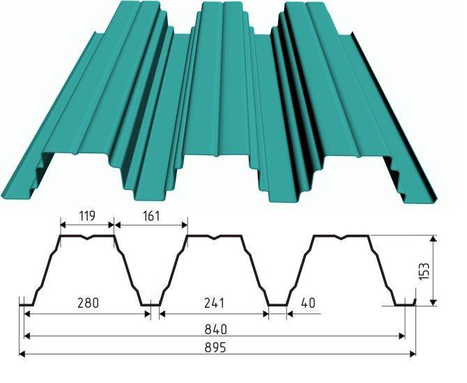 Профнастил Н153-840